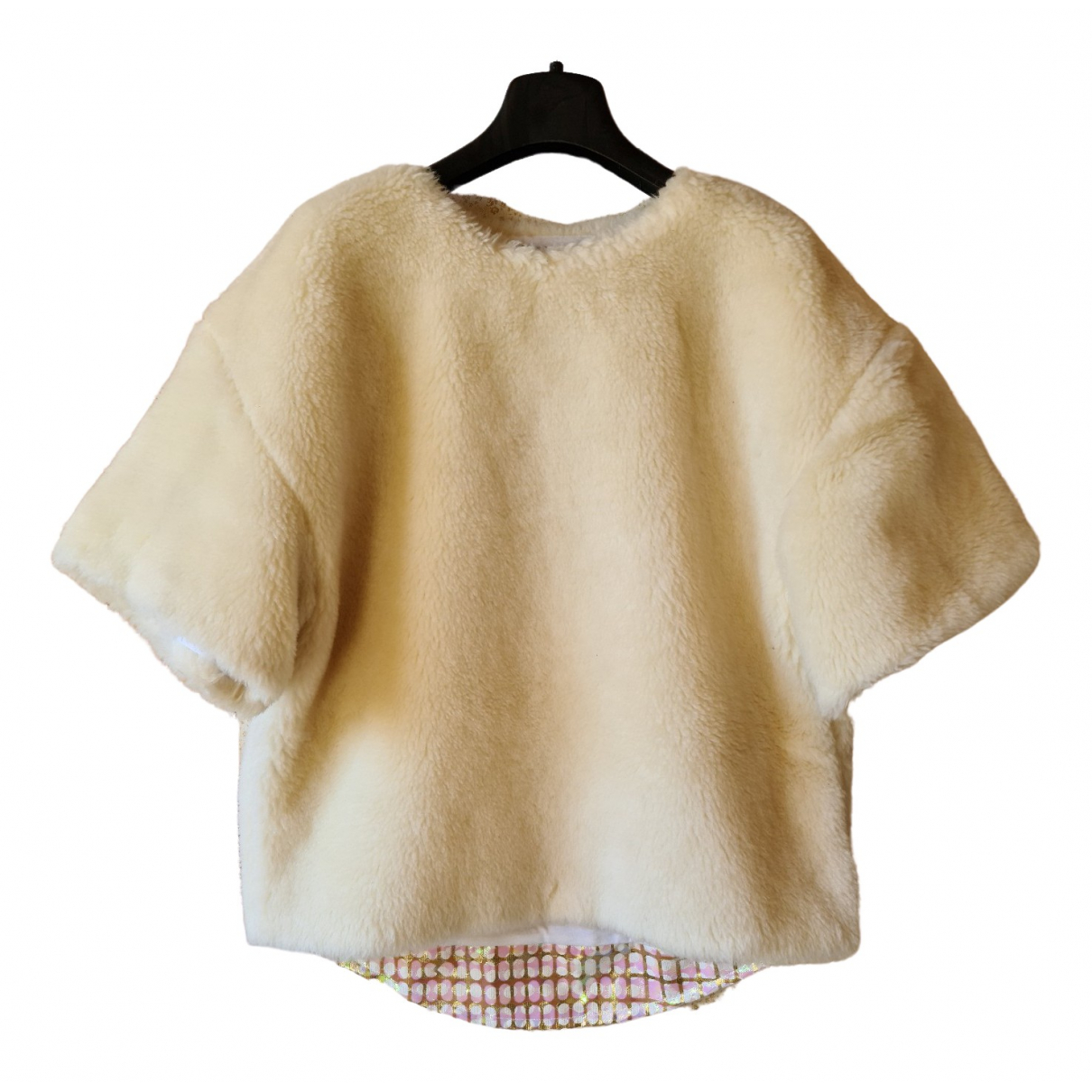 Non Signé / Unsigned \N Beige Shearling Knitwear for Women XS International