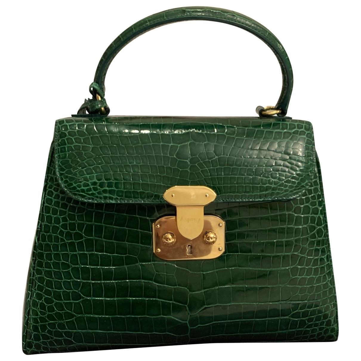 Asprey Of London \N Handtasche in  Gruen Krokodil