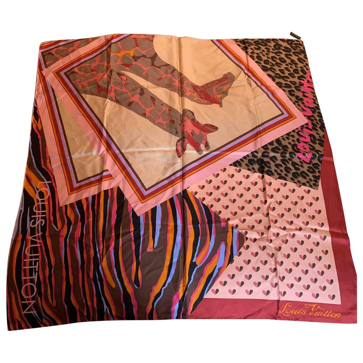 Louis Vuitton \N Pink Silk Silk handkerchief for Women \N