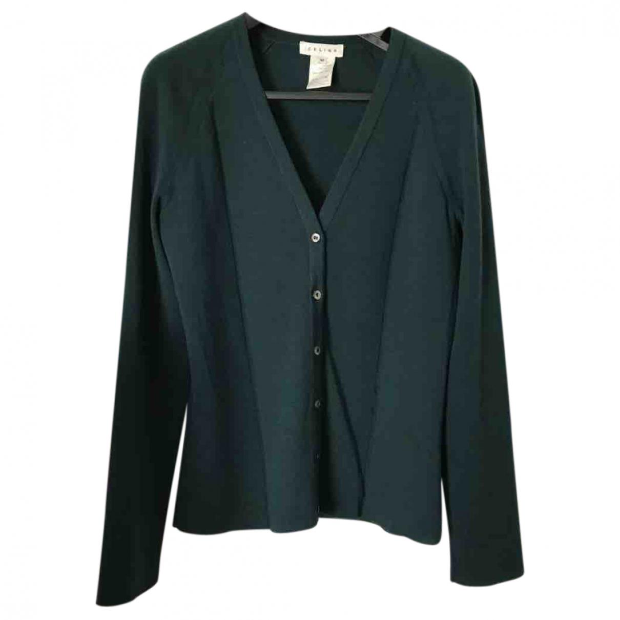 Celine - Pull   pour femme en laine - vert