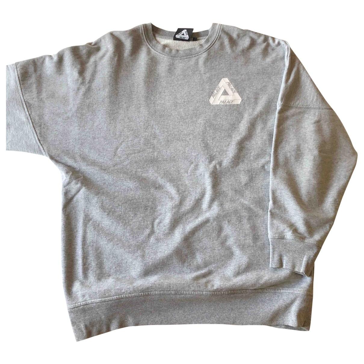 Palace \N Grey Cotton Knitwear & Sweatshirts for Men XL International