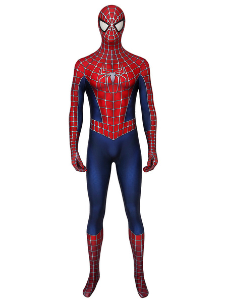 Milanoo Marvel Comics Spider-Man2 Cosplay Spider Man Lycra Spandex Burgundy Film Marvel Comics Cosplay Costumes