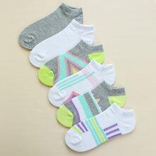 6 Paare Geometrische Socken