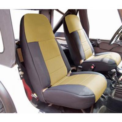 Coverking Neoprene Front Seat Covers (Black/Tan) - SPC179