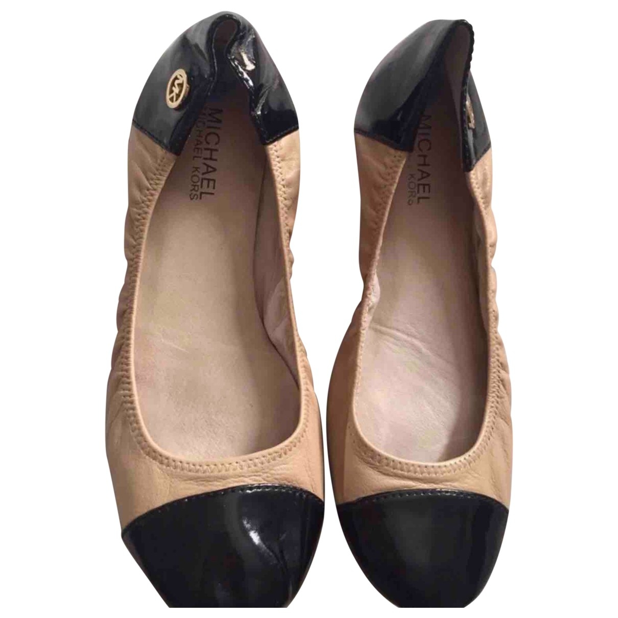 Michael Kors - Ballerines   pour femme en cuir - beige