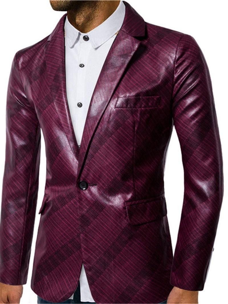 Ericdress One Button Stripe Fashion Mens Leisure Blazers