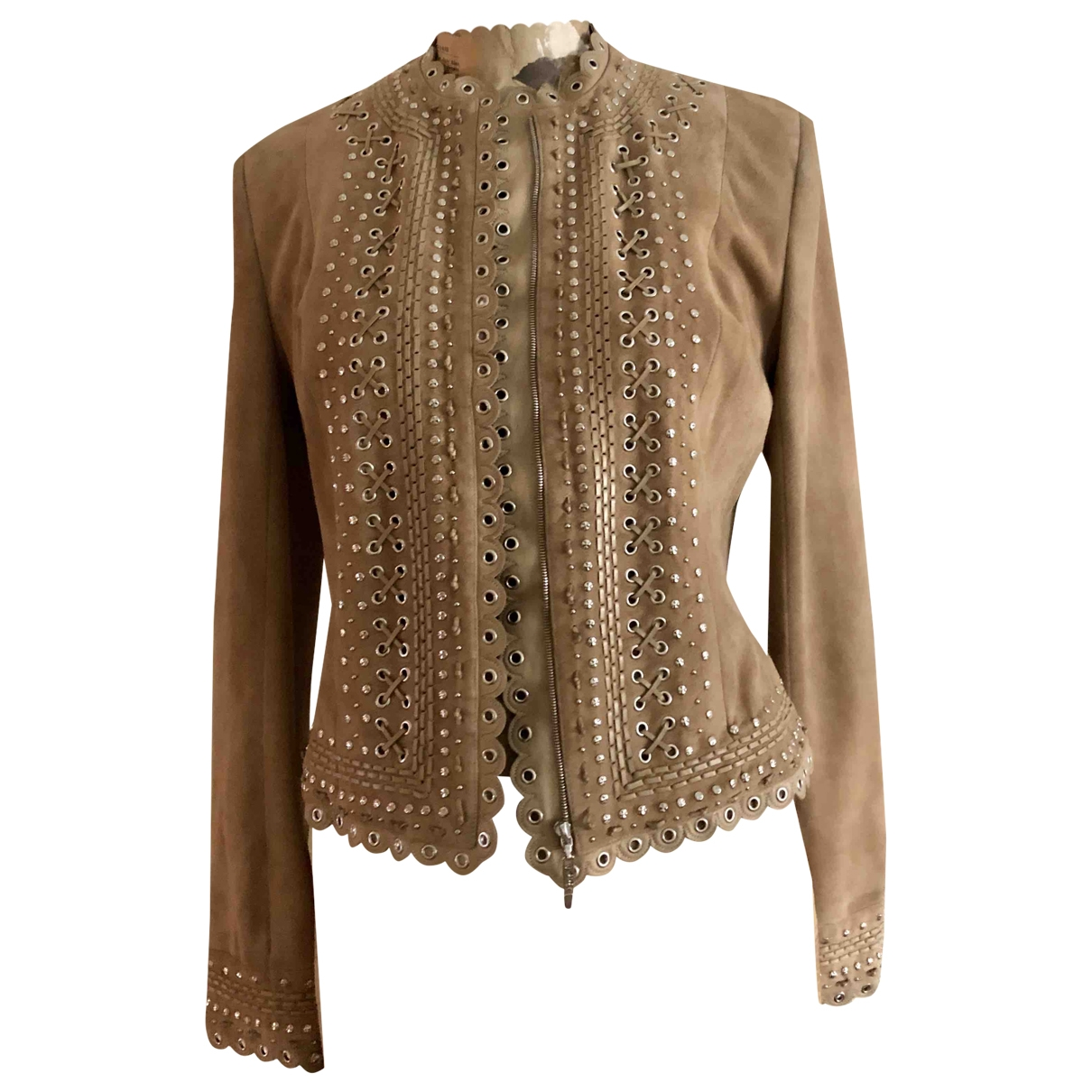 Dior \N Beige Suede jacket for Women 42 IT