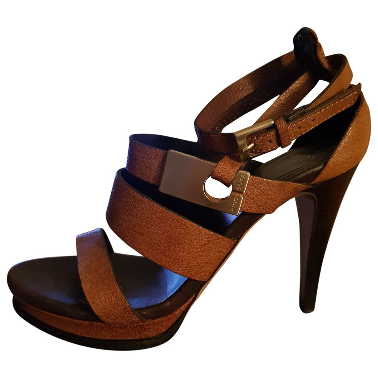 Boss \N Brown Leather Sandals for Women 38.5 EU