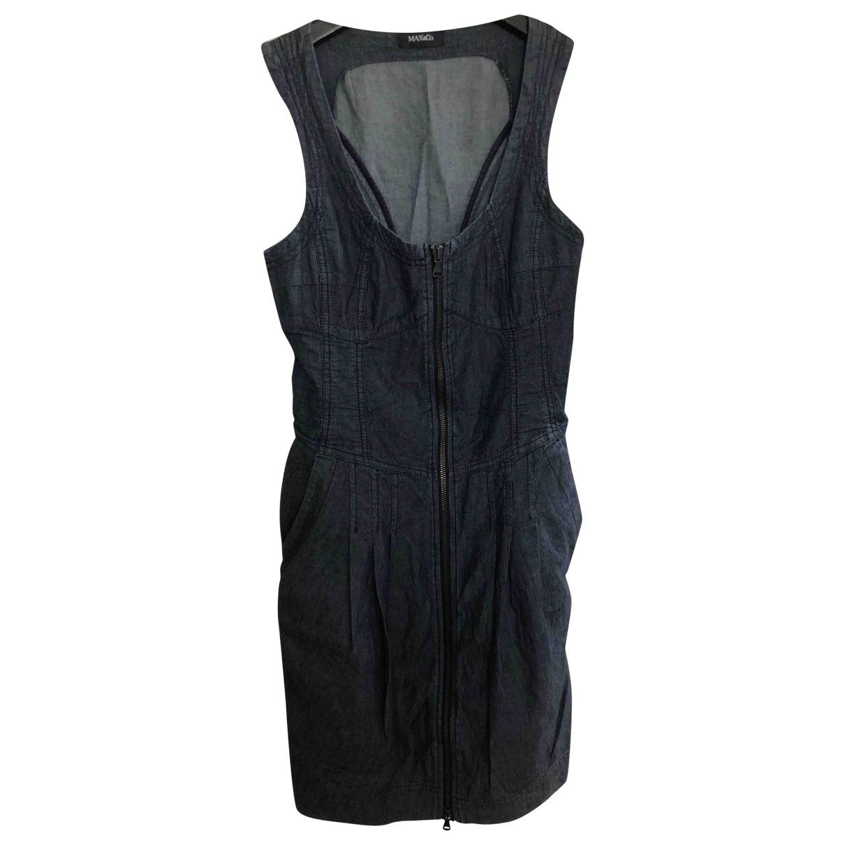 Max & Co - Robe   pour femme en denim - bleu