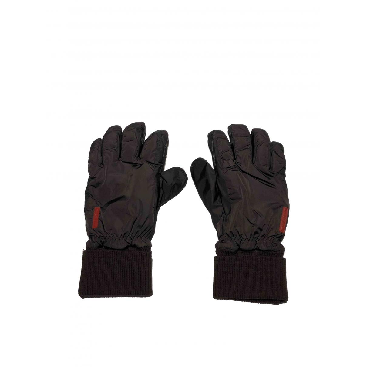 Prada \N Brown Gloves for Men M International