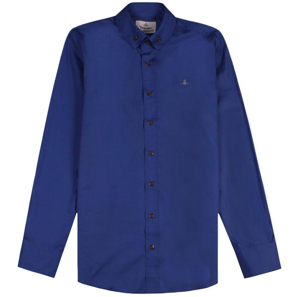 Vivienne Westwood Single Button Shirt Colour: BLUE, Size: EXTRA EXTRA LARGE