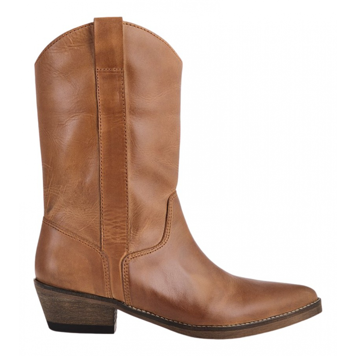 Non Signé / Unsigned N Brown Leather Boots for Women 40 EU