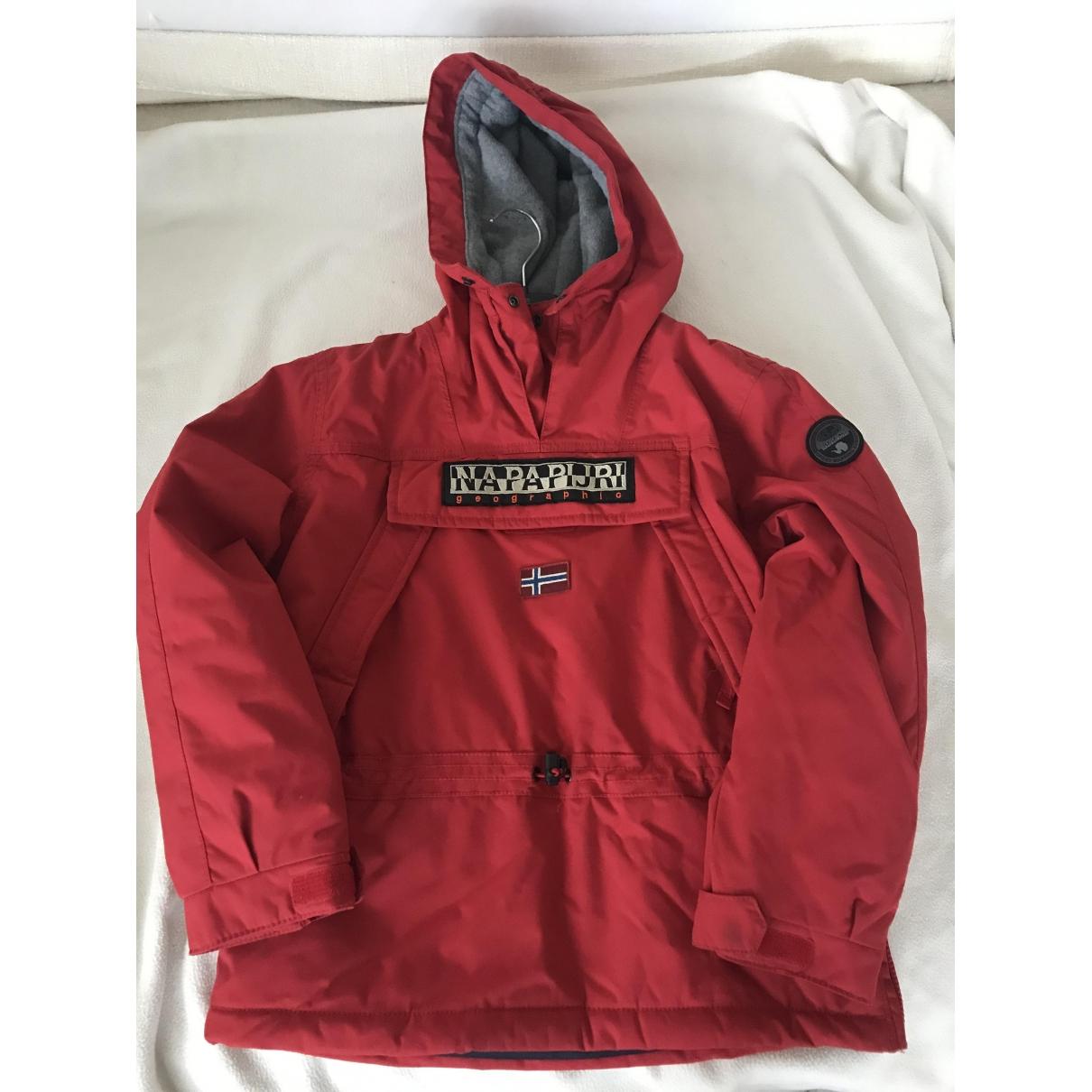 Napapijri - Blousons.Manteaux   pour enfant - rouge