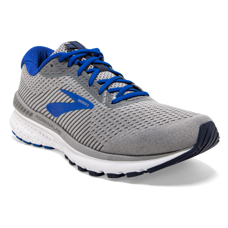 Brooks Adrenaline Gts 20 (Mens) Grey/Blue Synthetic 95 2E
