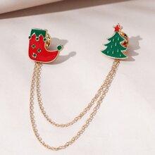 Weihnachten Brosche mit Klingel Design
