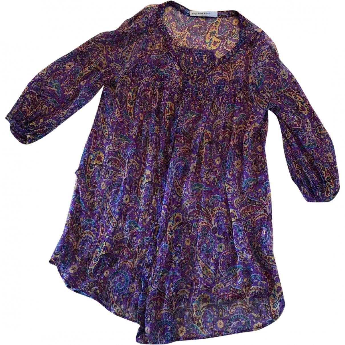 Zara \N Purple Silk  top for Women L International