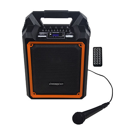ChromaCast Portable 60-Watt Rechargeable Bluetooth PA Speaker with Mic, One Size , Black