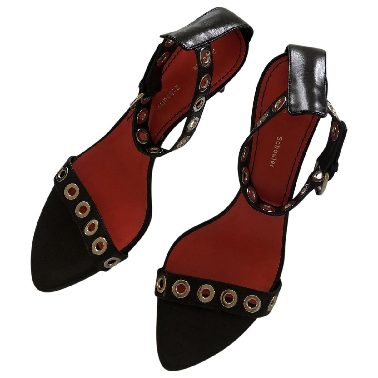 Proenza Schouler - Escarpins   pour femme en cuir - noir