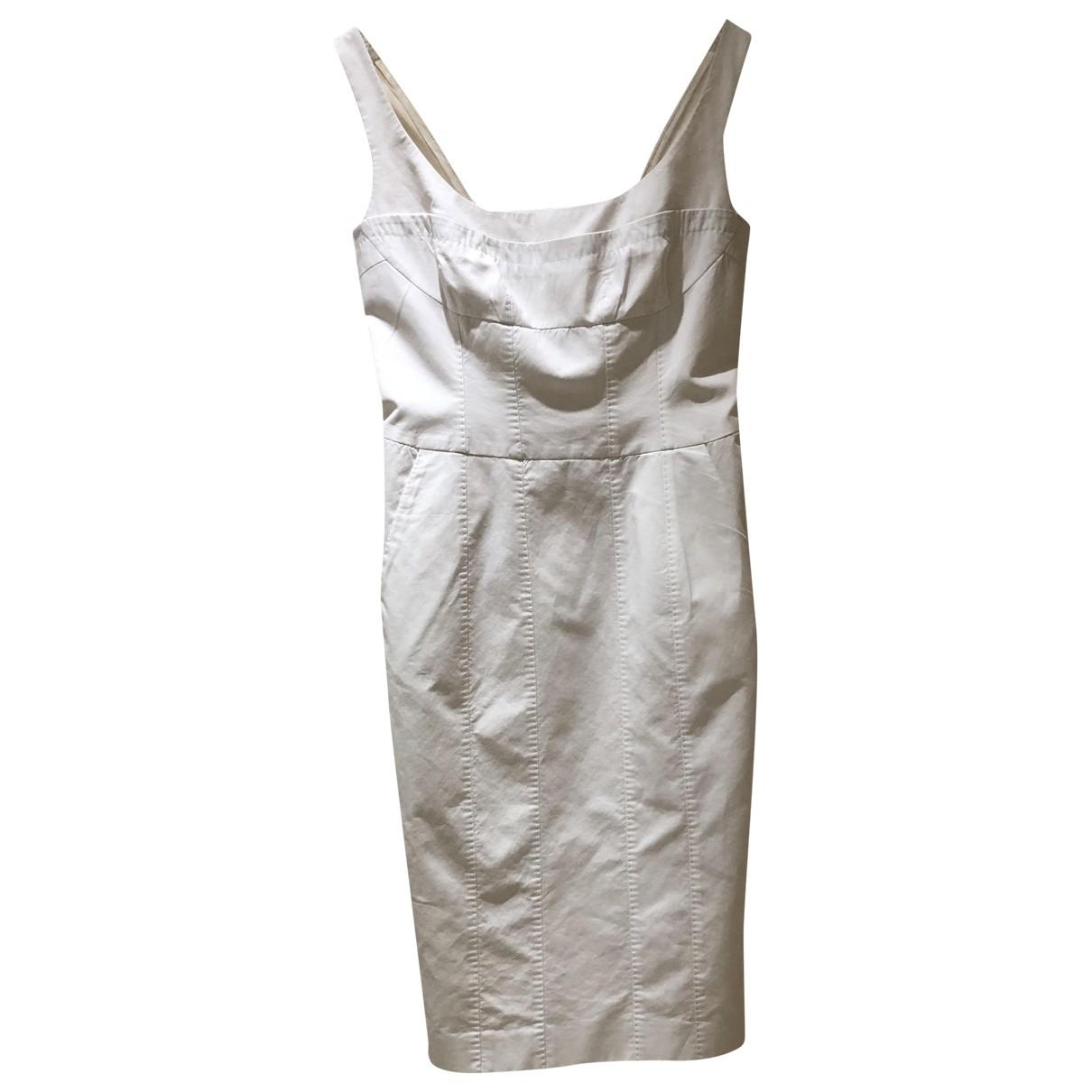 Amanda Wakeley \N Kleid in  Weiss Baumwolle