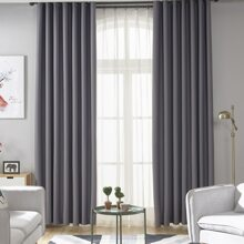 1pc Solid Color Sheer Curtain