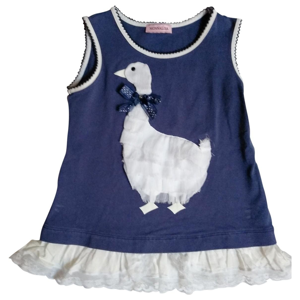Monnalisa - Top   pour enfant en coton - bleu