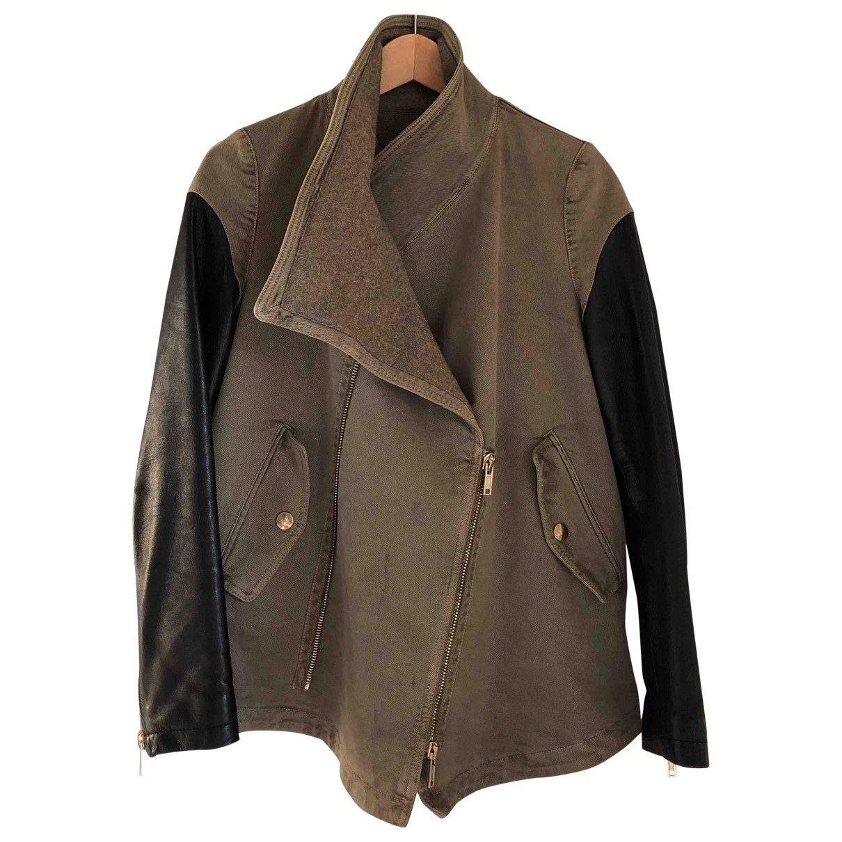 Givenchy \N Jacke in  Khaki Wolle