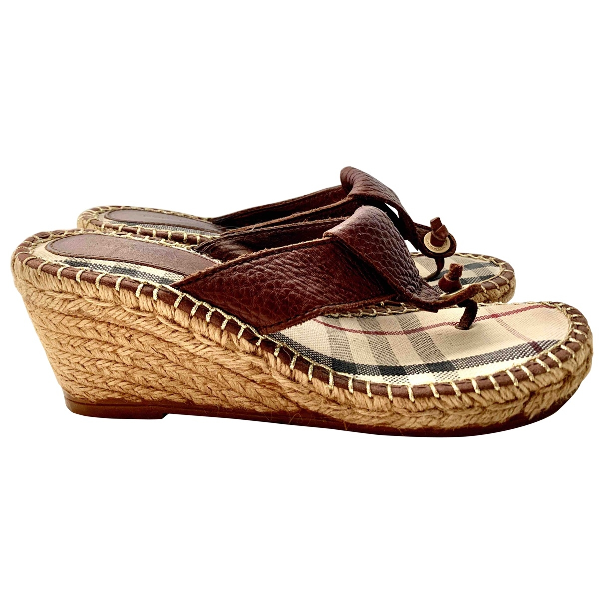 Burberry \N Brown Leather Espadrilles for Women 39 EU
