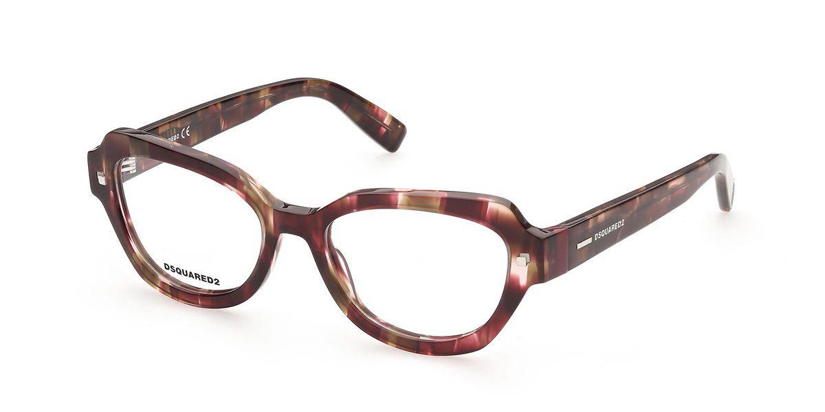 Dsquared2 DQ5335 068 Women's Glasses Red Size 53 - Free Lenses - HSA/FSA Insurance - Blue Light Block Available
