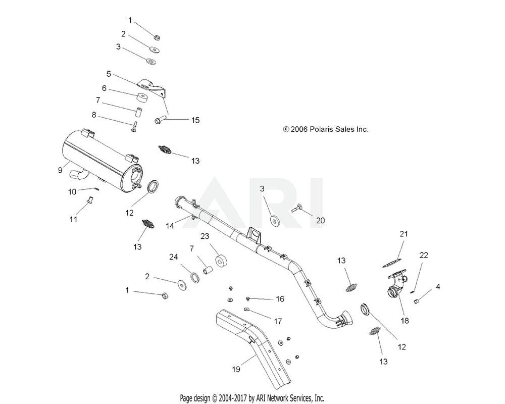 Polaris OEM 1261734-489 Manifold