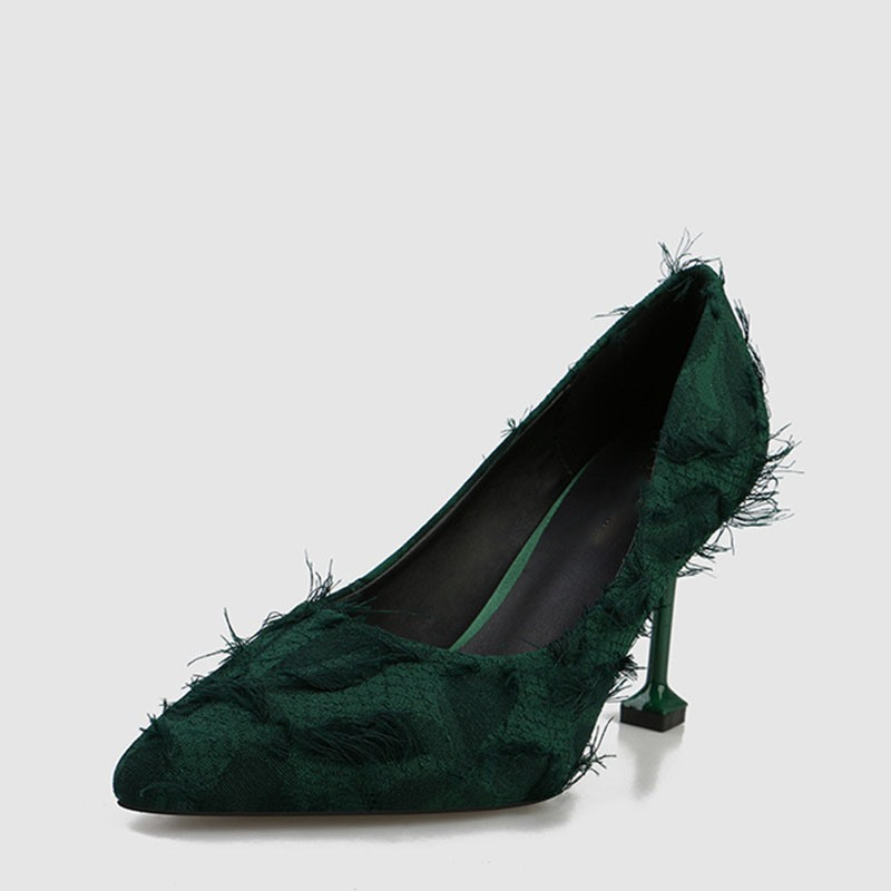 Ericdress Fringe Stiletto Heel Pointed Toe Women's Pumps