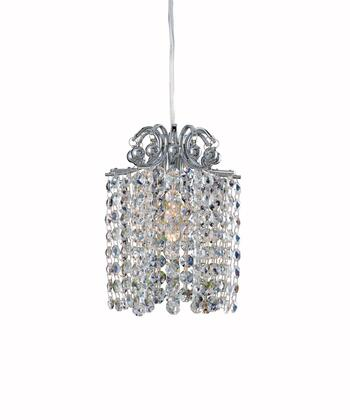 Milieu 11761-010-FR1AB 1-Light Mini Pendant in Chrome Finish with Firenze Crystal Blue