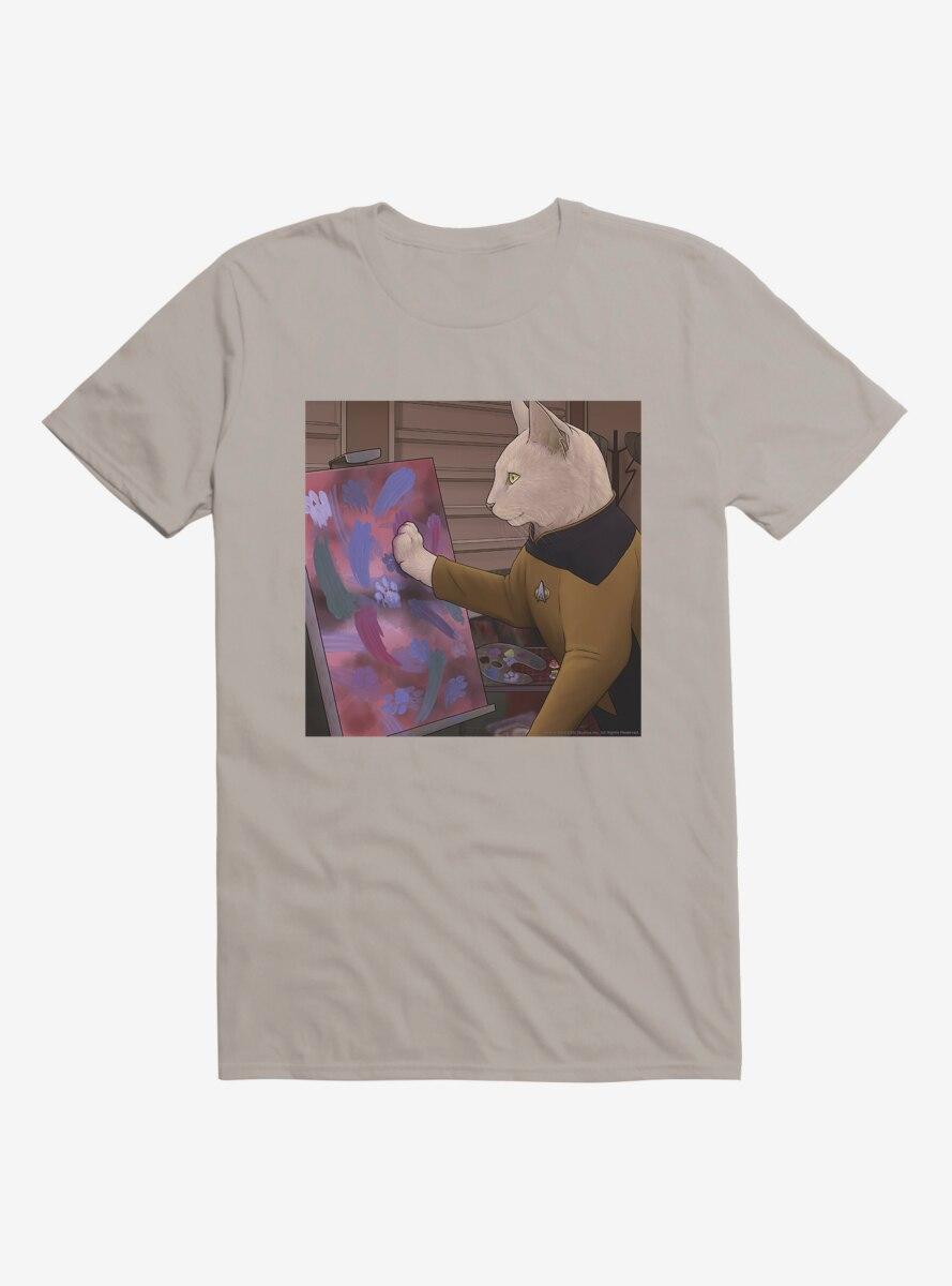 Star Trek The Next Generation Cats Painting T-Shirt
