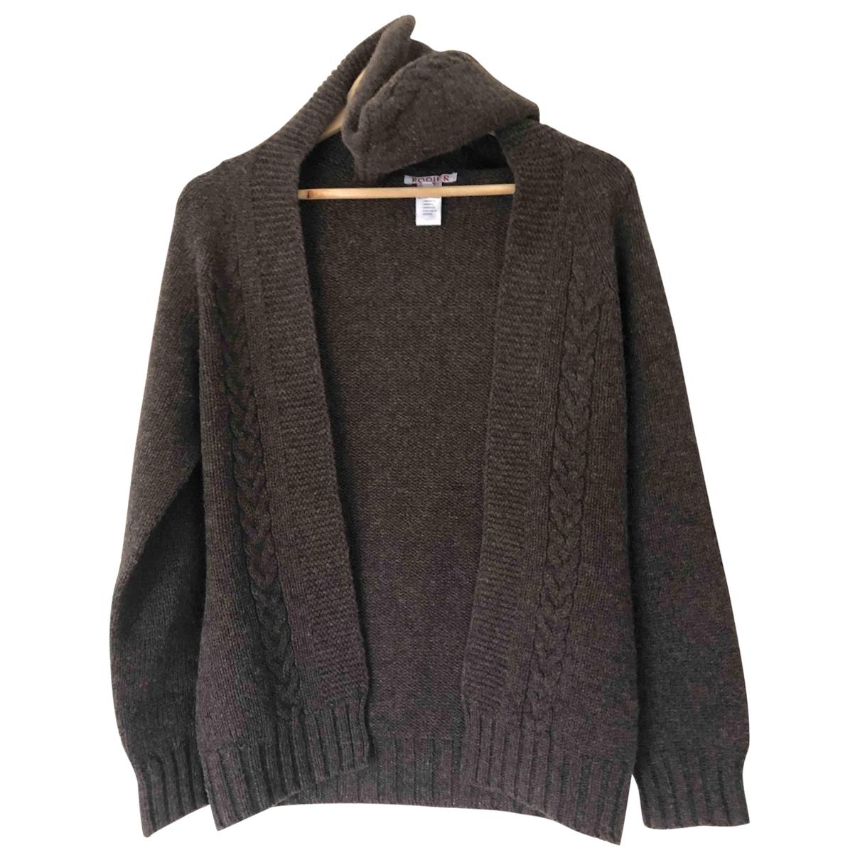 Rodier - Pull   pour femme en laine - marron