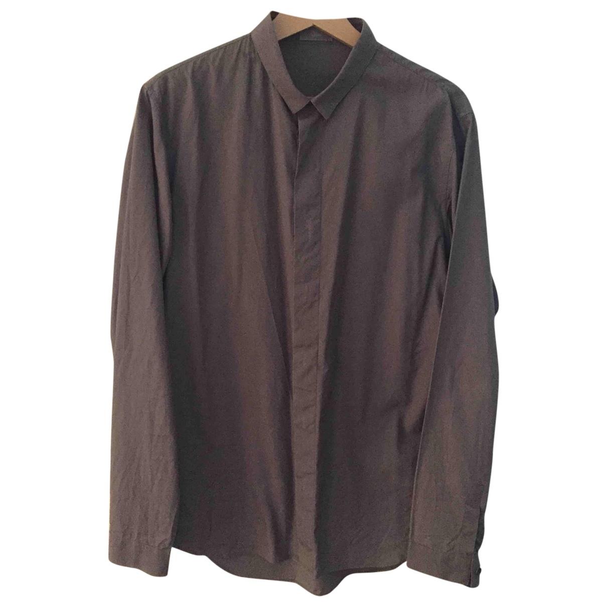 Dior Homme \N Hemden in  Anthrazit Baumwolle