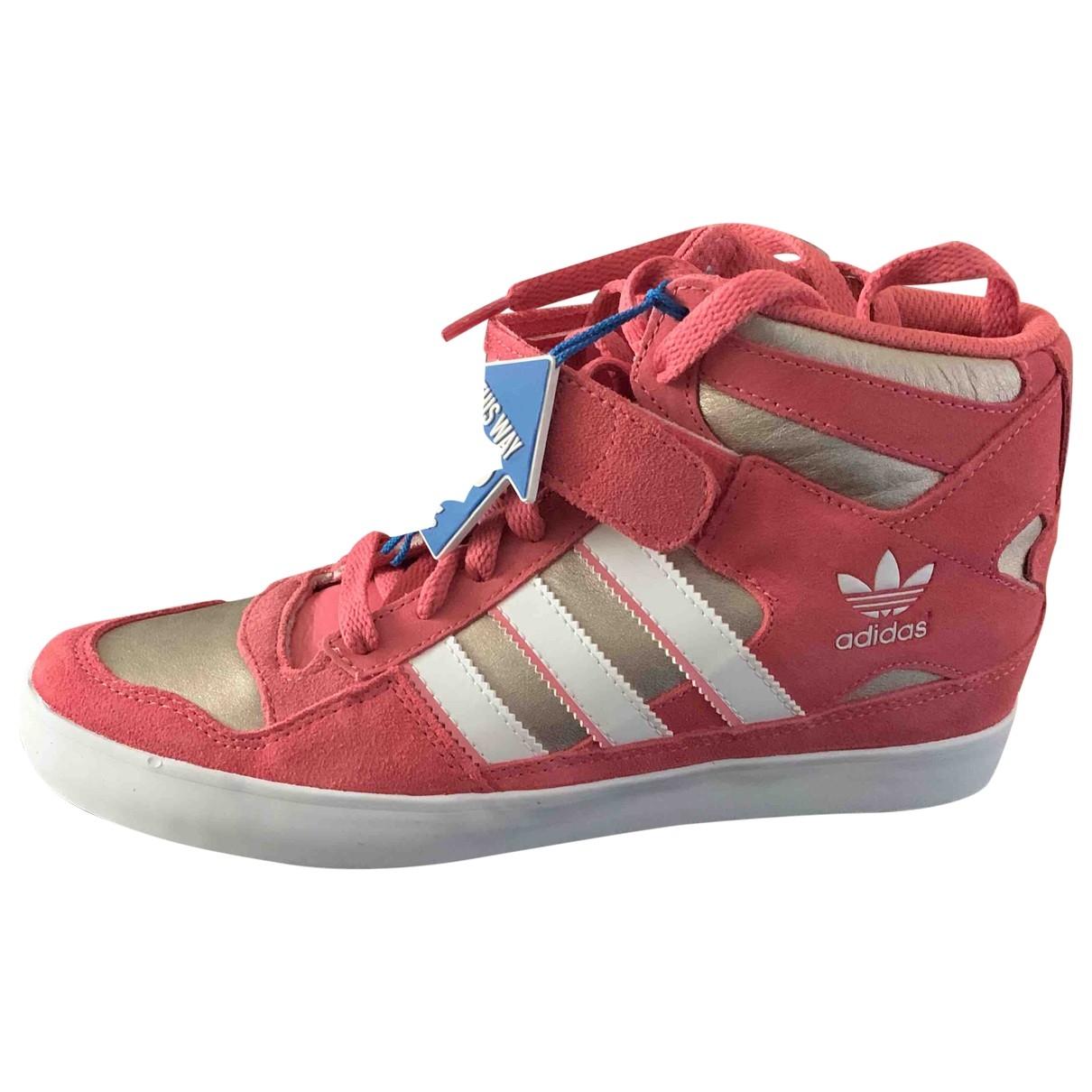 Adidas - Baskets   pour femme en suede - rose