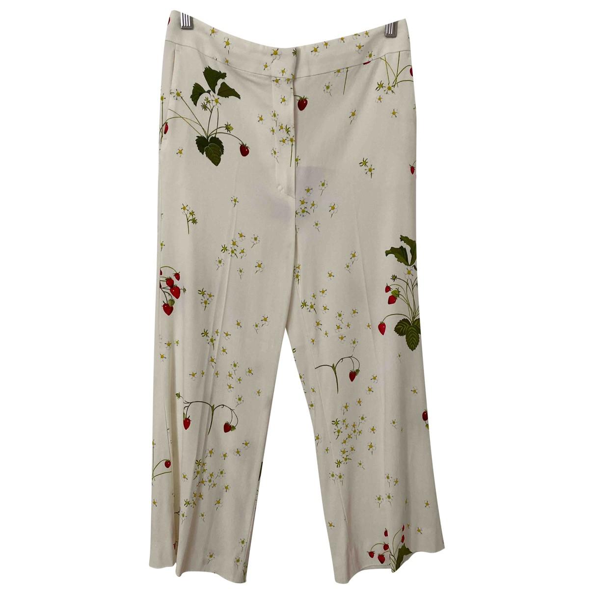 Sport Max \N Ecru Trousers for Women 36 IT