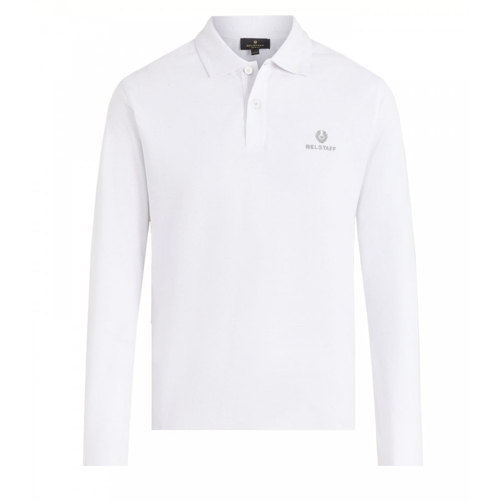 Belstaff Long Sleeved Polo Colour: WHITE, Size: SMALL