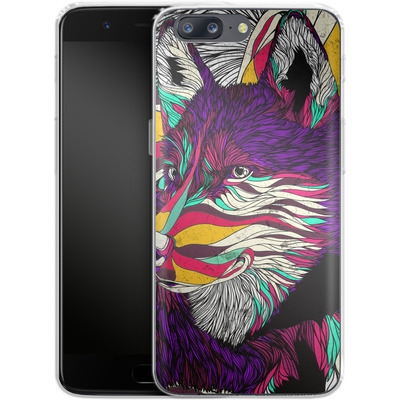 OnePlus 5 Silikon Handyhuelle - Color Husky von Danny Ivan