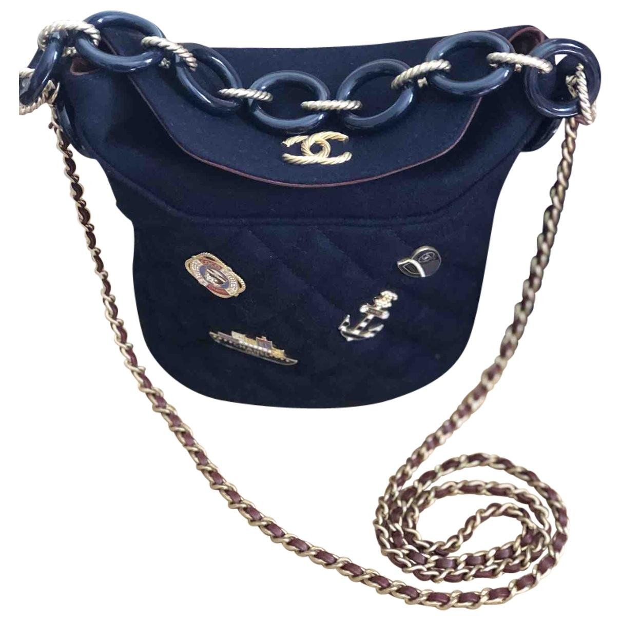 Chanel \N Handtasche in  Blau Wolle