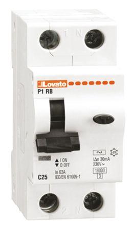 Lovato RCBO - 1+N, 30mA Trip Sensitivity, P1RB Series