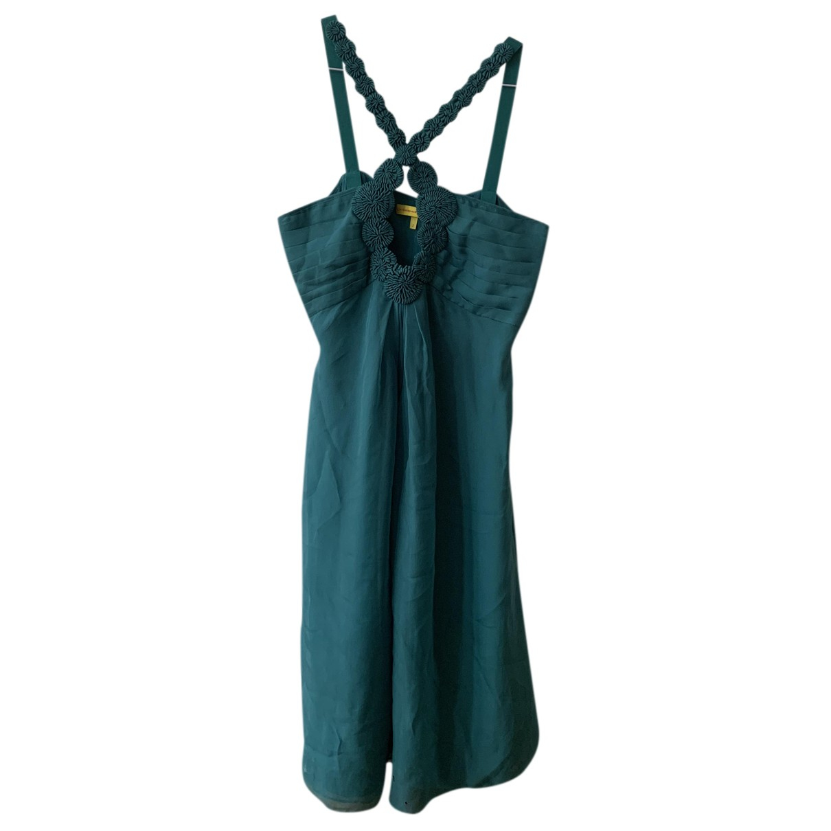 Catherine Malandrino N Turquoise Silk dress for Women 2 US