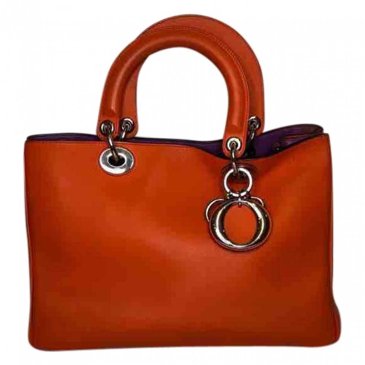 Dior - Sac a main Diorissimo pour femme en cuir - orange