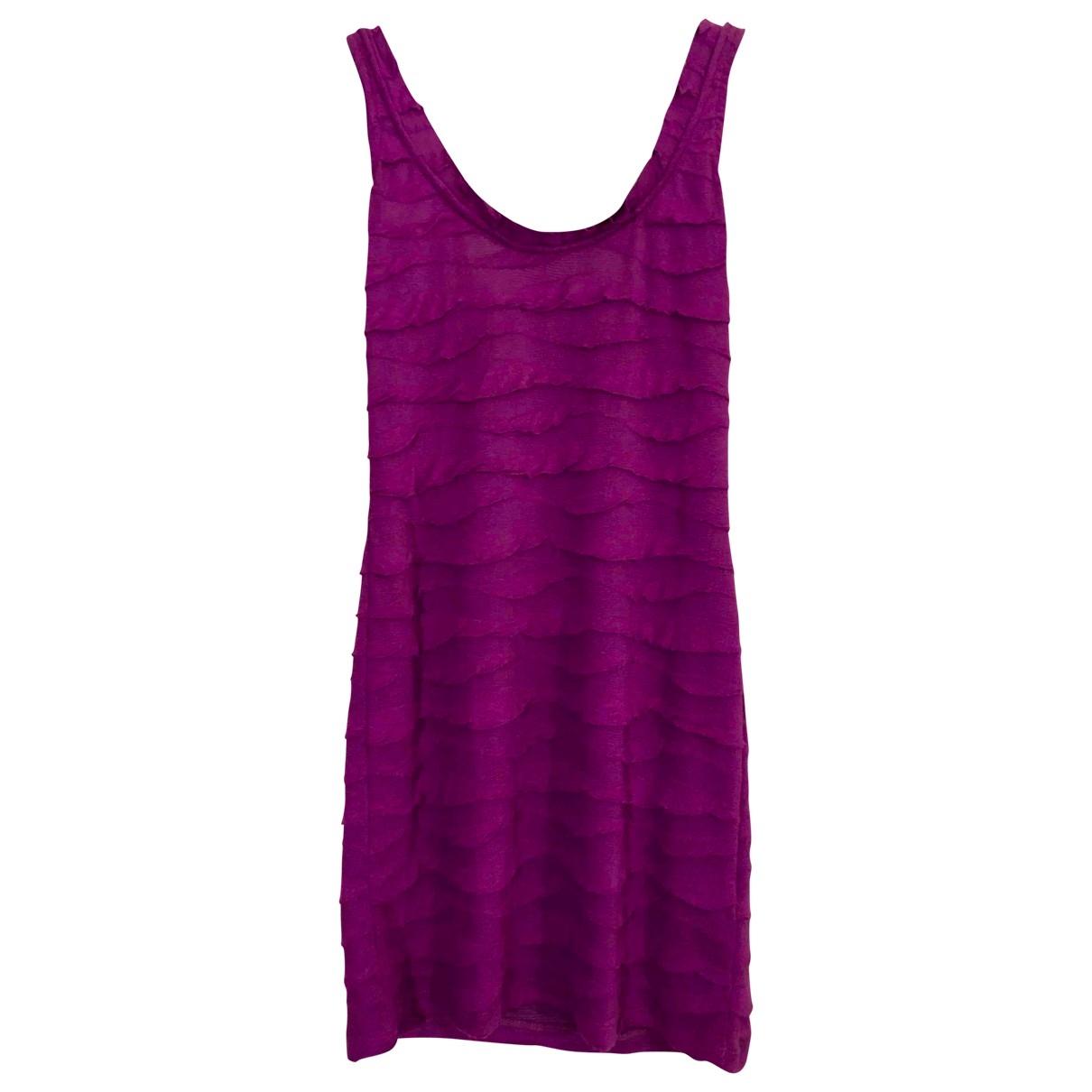 Zara \N Kleid in  Lila Baumwolle - Elasthan