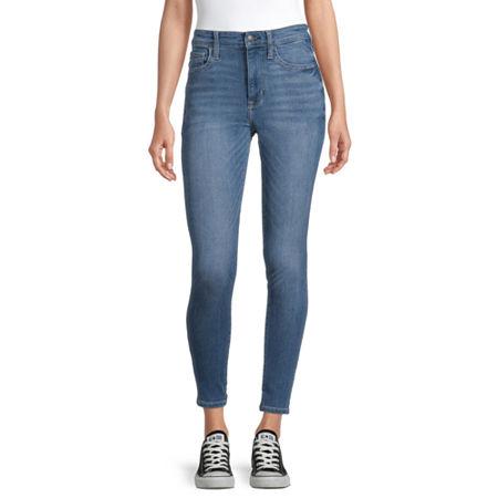 Arizona Womens High Rise Skinny Jeggings - Juniors, 15 , Blue
