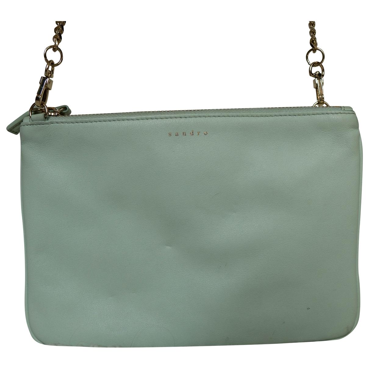 Sandro Addict Green Leather handbag for Women \N