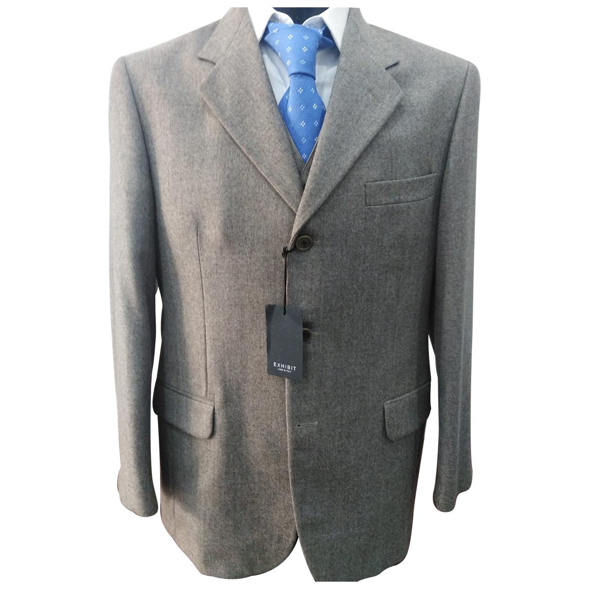 Autre Marque N Brown Wool Suits for Men 48 IT