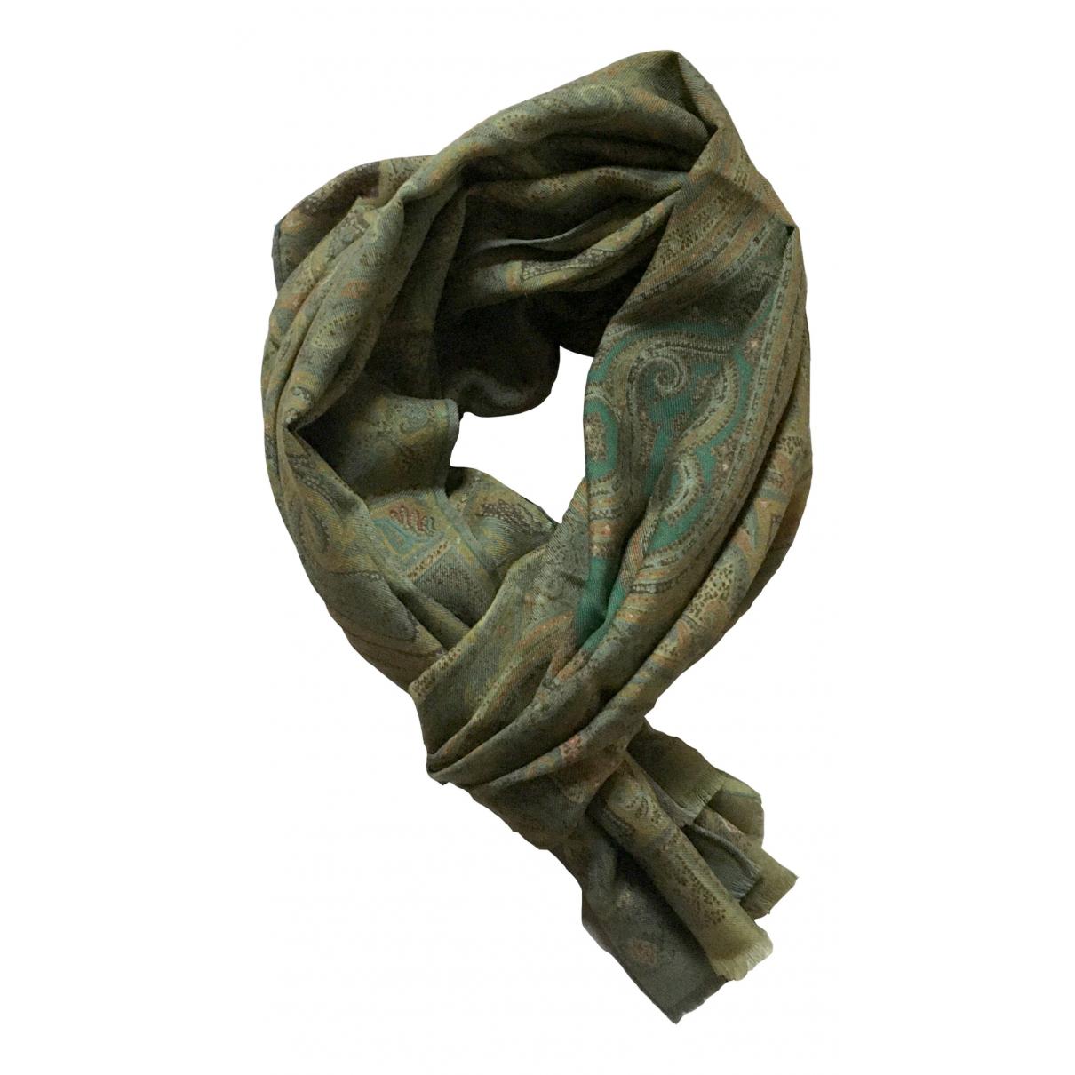 Etro \N Tuecher, Schal in  Gruen Wolle