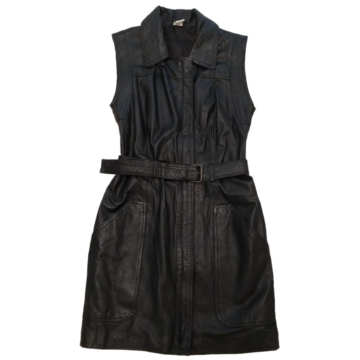 Mini vestido de Cuero Reclaimed Vintage