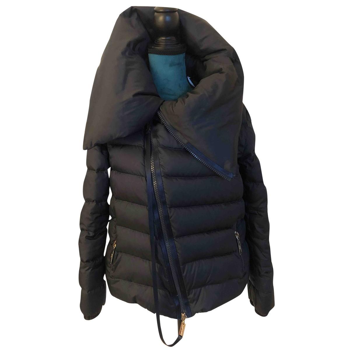Elisabetta Franchi \N Blue Leather jacket for Women 42 IT