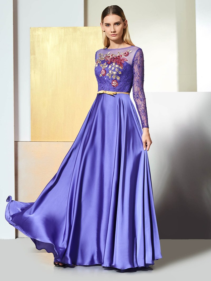Ericdress Lace Long Sleeve A Line Prom Dress
